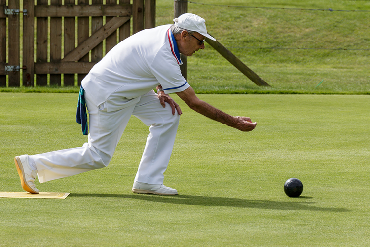 Playing bowls in retirement
