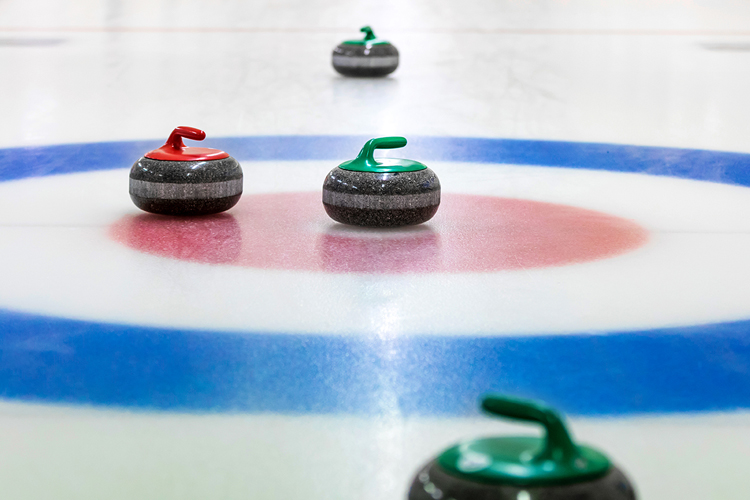 Close up of curling