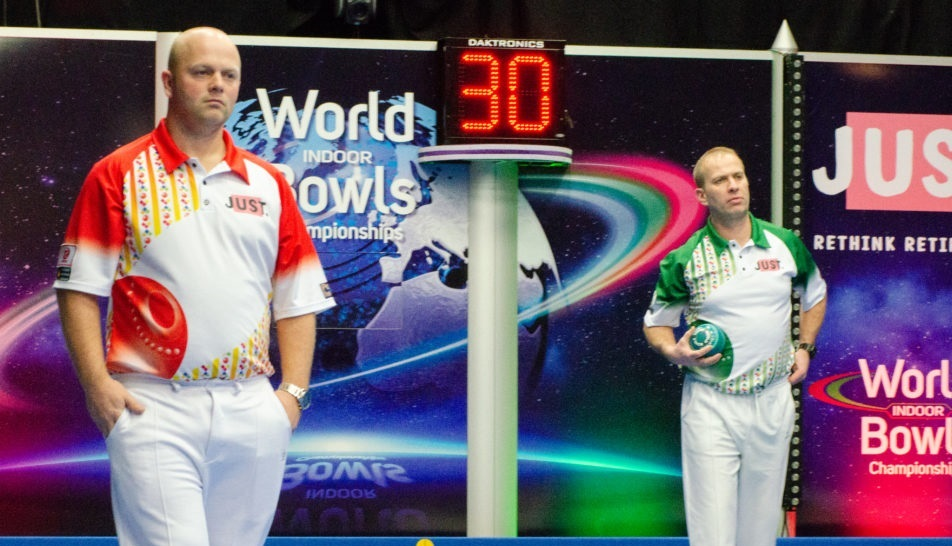 Bowls players Stewart Anderson and Colin Walker