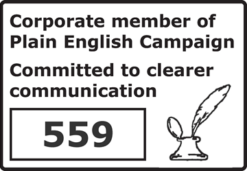 Just are corporate members of the Plain English Campaign